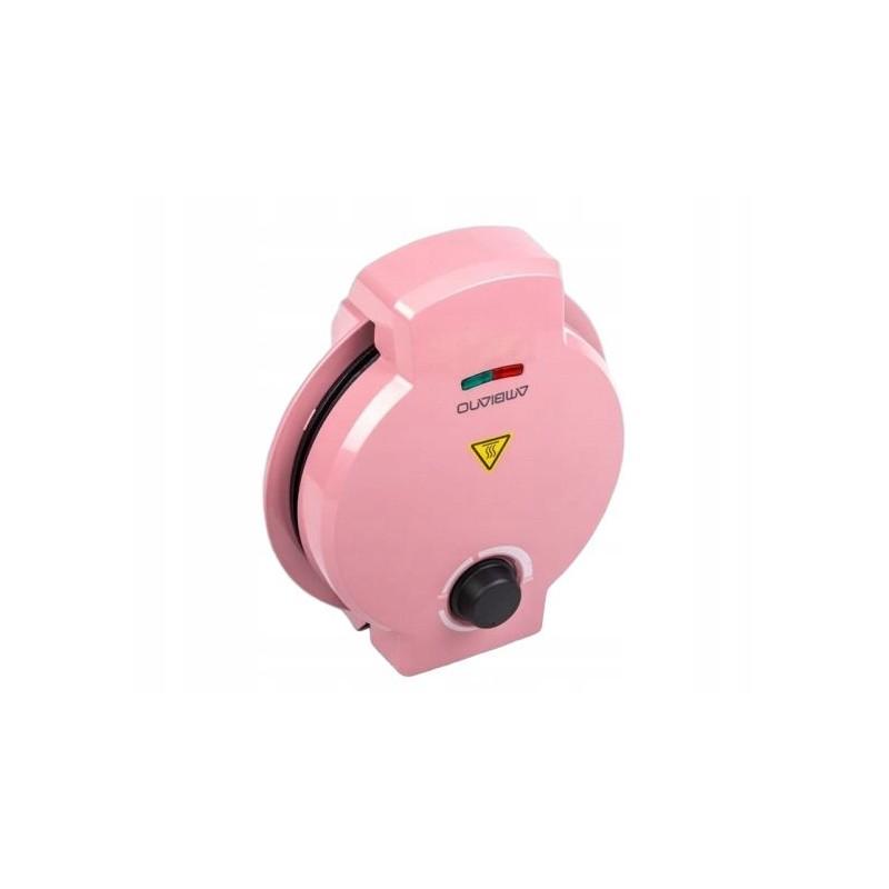 Vaflovač Ambiano WE 7000, 1200W - tvar srdce, růžová Ambiano