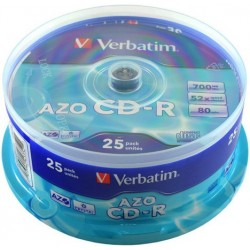 Verbatim CD-R 700MB 52x, Printable, spindle, 25ks