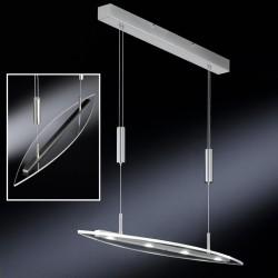 Stropní závěsné světlo Honsel Leuchten - Chrom+Sklo