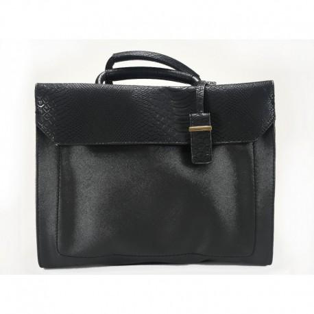 Elegantní kufříková černá kabelka do ruky z ekokůže 69c0bcb809c