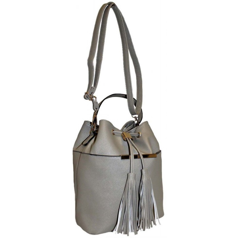 Orginální šedá kabelka ve tvaru pytle 38d593f3b69