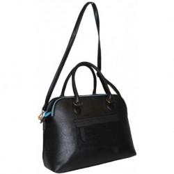 Černá elegantní kufříková kabelka na zip
