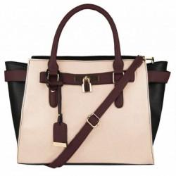 Elegantní kufříková kabelka v barevné kombinaci