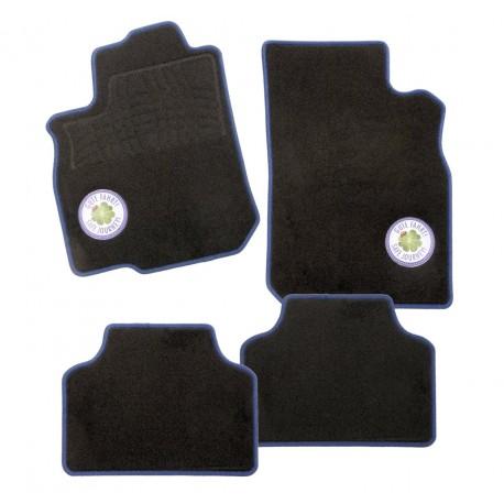 Carfashion C03 Auto rohože, 4-dílná sada v černé barvě