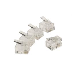 Telekomunikační konektor 5ks, Valueline VLTB90923T - čirá