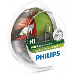 Sada žárovek do auta Philips H1 extra lifetime 0730536  - 2 ks