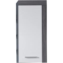Koupelnová závěsná skříň Furnline, 36 x 79 x 23 cm, šedobílá