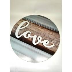 Nástěnná dekorace Love, 48 cm