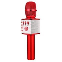 Bezdrátový bluetooth karaoke mikrofon 3nh K38, červená