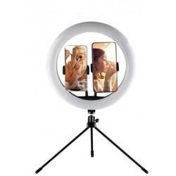 USB kruhové LED selfie světlo s trojnožkou BH377A, 38 cm