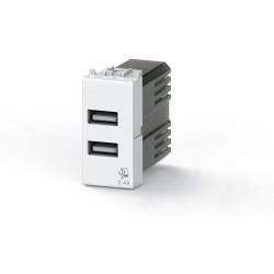 Nástěnná zásuvka USB 4Box, 2,4 A - bílá