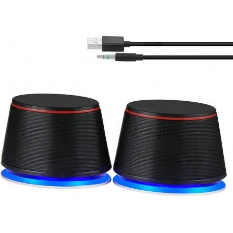 PC reproduktory Sanyun SW102 2.0, 5 W, černá
